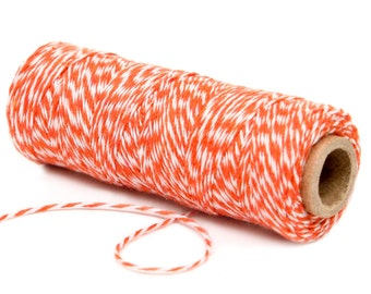 Bakers Twine, 4 Ply Bakers Twine, 100 Yard Spool of Twine, Orange and Bakers Twine, Construction Party Decor, Birthday Party Supplies Favors