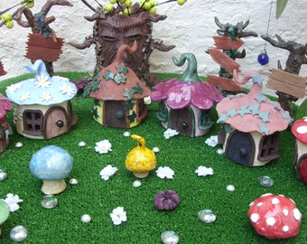Handcrafted Pottery Garden Fantasy Fairy Houses
