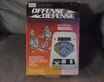 Vintage Electronic Baseball Offense Defense 1980 Sears