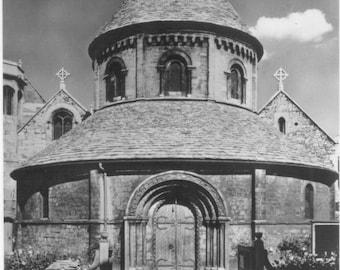 The Round Church of Cambridge SUFFOLK England 12th Century Church  Real Photo RPPC Tuck's Real Photo Postcard