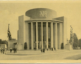 Brussels 1935 Exposition Pavillon de la Grande-Bretagne POSTCARD Carte Postale 1935