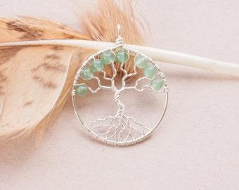 Tree of life pendant aventurine