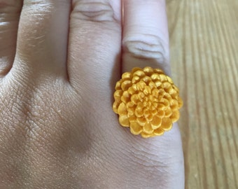 Polymer Clay Flower Adjustable Ring