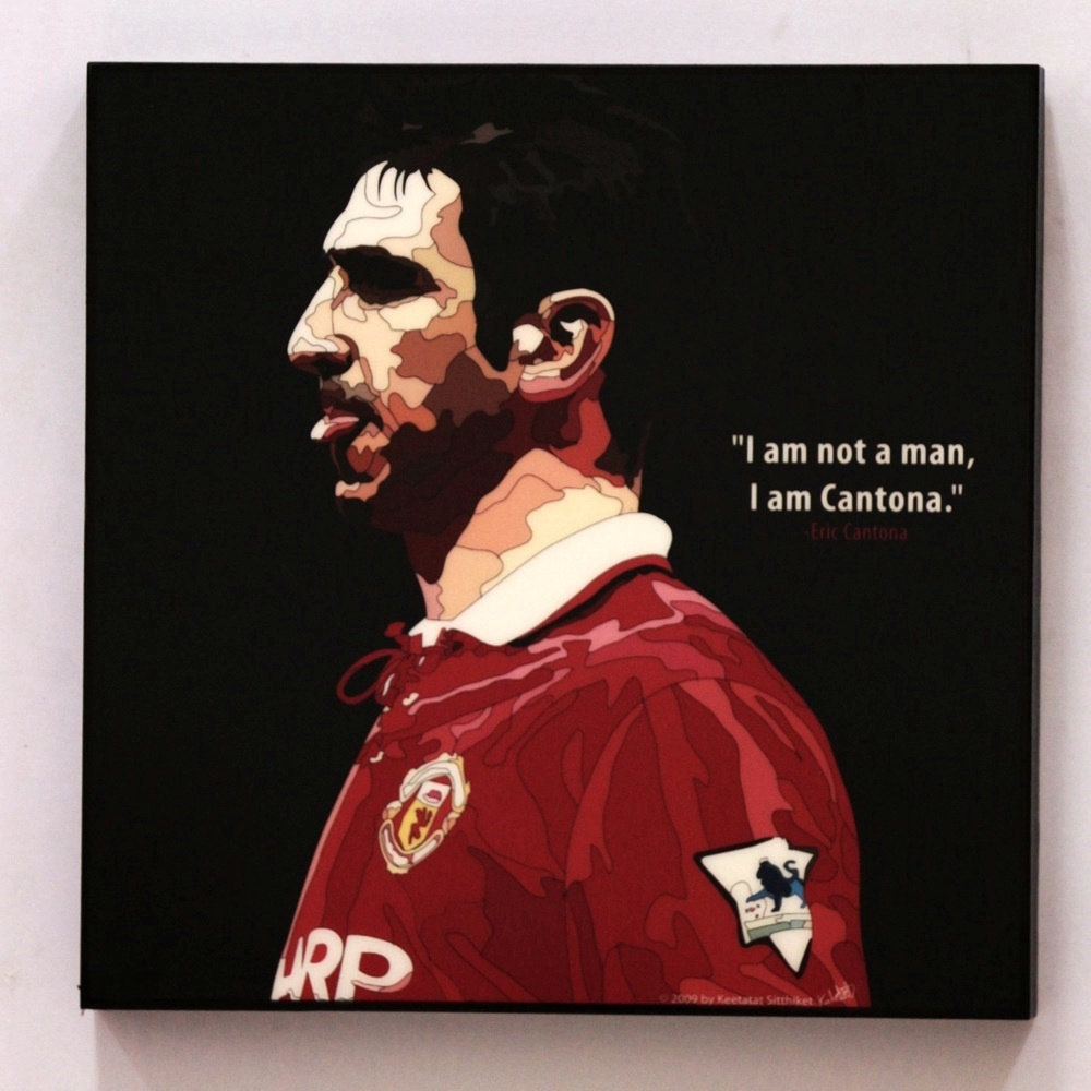 Eric Cantona Manchester United Wall Art Decals Quotes Football