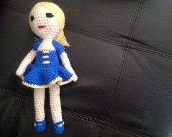 Ballerina,  Amigurumi,crocheted, hand made, Amigurumi toy