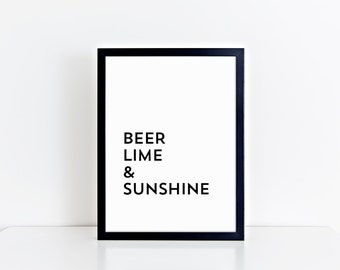 beer lime & sunshine print