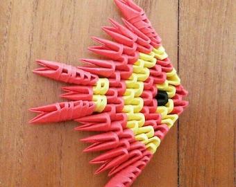 3d origami fish magnet/baptism favor box/sea/origami 3d fish magnet