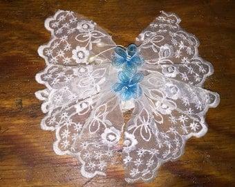 Antique lace hair barrette