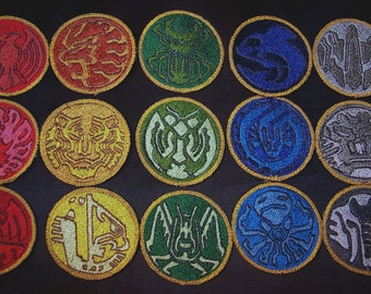 Kamen Rider OOO Core Medal Patch Set