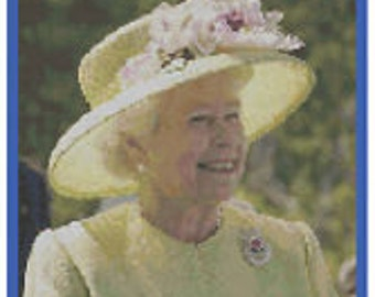 Queen Elizabeth II Diamond Jubilee Cross Stitch Kit by Florashell
