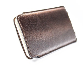 iPhone 6 /6S/7 Leather Handmade sleeve pouch case 100% made in italy