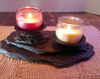 Candle Holders, Stone Candles, Rock Candle Holders, Votive Candles, Scented Candle Holders, Handmade
