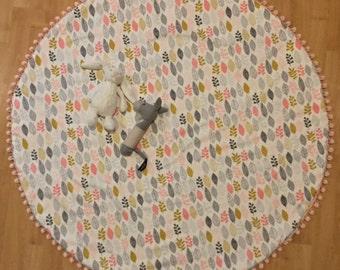 Organic Cotton / Baby Play Mat / Baby Girl/Nursery Rug/Ready To Ship