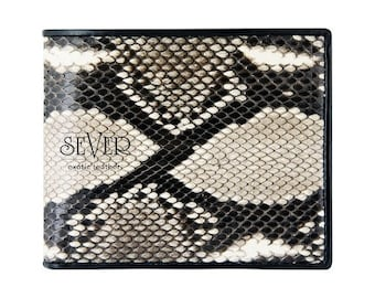 Leather Wallet Mens, Womens Wallet, Bifold Wallet, Genuine Leather Wallet, Snakeskin Wallet, Python Wallet, Mens Wallet Bifold, SV-0001