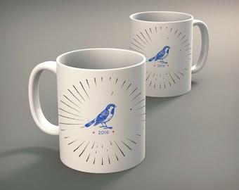 Bernie Sanders Coffee Mug Birdie 2016 Mug Funny Mug Cute Mugs Unique Coffee Mugs Election 2016 Campaign Mug #BernieSanders #Coffee