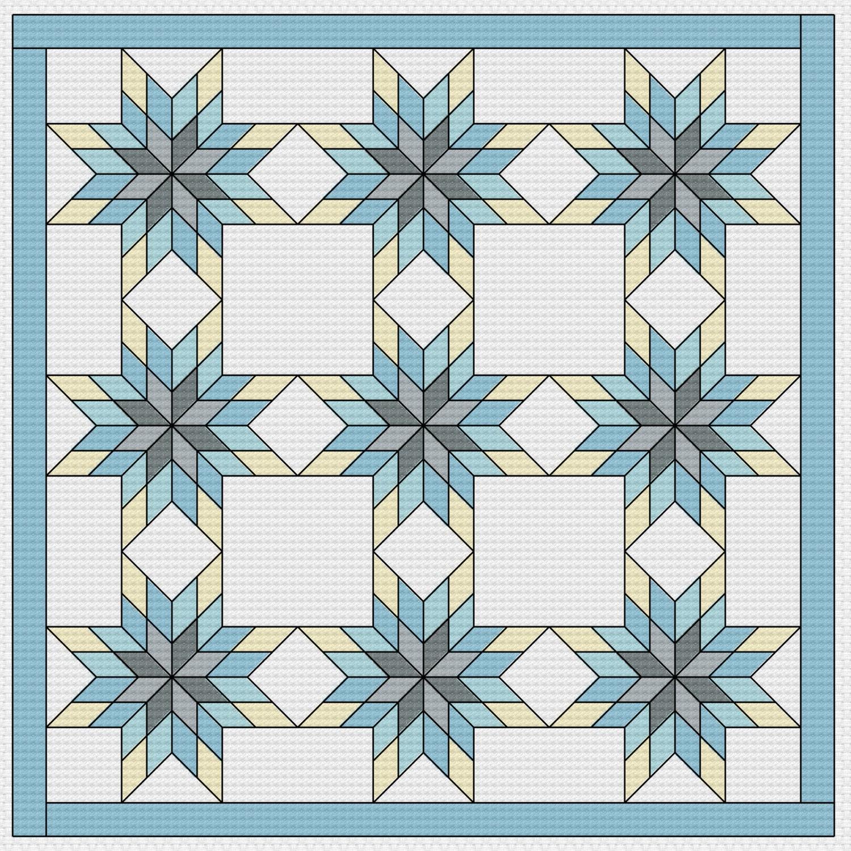 Cross Stitch Pattern Quilt Block Missouri Star