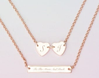 Susanna Personalised Heart Layered Necklace