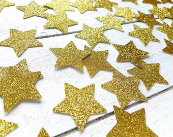 Gold star confetti. Christmas confetti. 50 units. Gold glitter confetti. Christmas decorations.  Table decor. Silver, green, red, Star decor