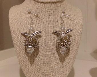 Sparkly Angel Wings Earrings