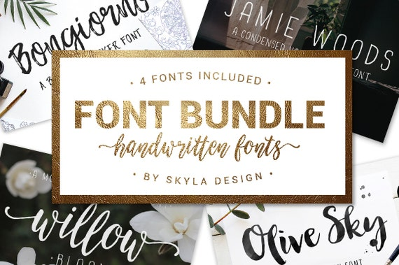 Font Bundle, handwritten fonts, Modern calligraphy font, brush fonts, wedding font download, brush script, handwritten fonts, fun font