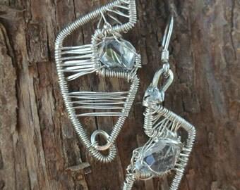 Herkimer diamond: Sending/recieving earrings
