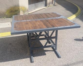 "Table of dining industrial ""Joe"""