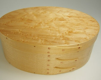 Shaker Oval Box – Maple with Birdseye Maple Top