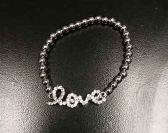 LOVE bracelet stretchy rhinestone