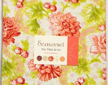 "Somerset Layer Cake by Fig Tree & Co. for Moda Fabrics  #20230LC  100% Cotton 42- 10""x10"" precut squares"