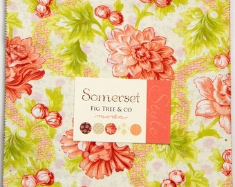 """Somerset Layer Cake by Fig Tree & Co. for Moda Fabrics  #20230LC  100% Cotton 42- 10""""x10"""" precut squares"""
