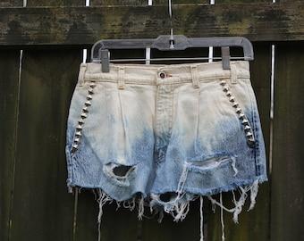 Ombré Denim Shorts