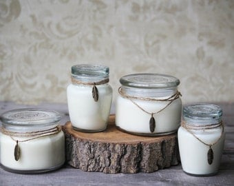 Large Soy Essential Oil Candle - Jar Candles -  Aromatherapy Candle - Natural Scented Candles - Hand Poured - Clean Haven Naturals