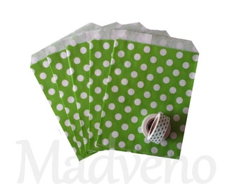 Lot of 10 bags in green peas paper