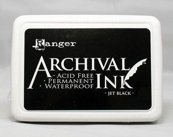 Ranger Archival Black Ink - Black Ink - Archive Ink - Black Archive Ink - Ranger Black Ink - Permanent Black Ink - Waterproof Ink