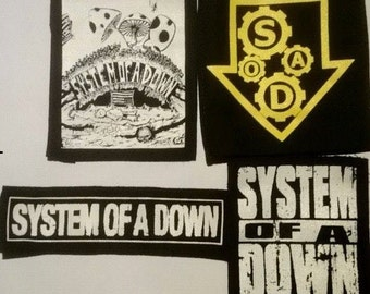 SYSTEM OF A DOWN patches metal punk rock