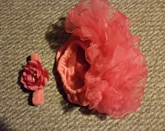 Baby girls bloomers and headband to match size 12 month