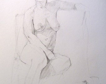 Life drawing sketch 1