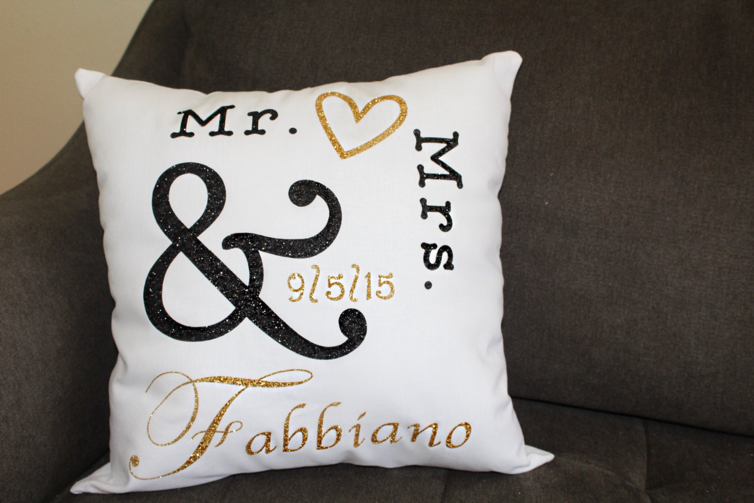 Mr And Mrs Pillow Engagement Decorative Pillow By Giannaryan