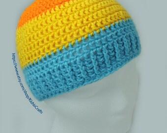 Crochet Multicolor Child-size Skullcap