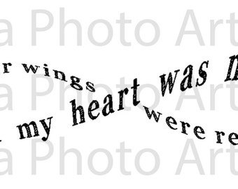 """Loss Memorial """"wings were ready but my heart was not"""" SVG"""