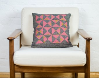 Patchwork Pillow Cover Hourglass 16""