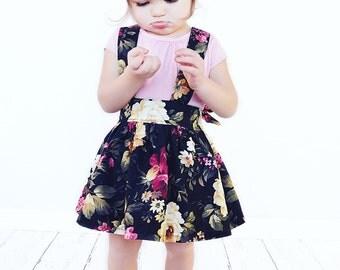 Midnight Rose suspender skirt