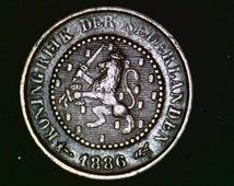 Half Cent Netherland 1886 (Rare)