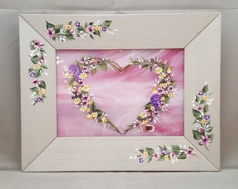 Handpainted Heart Frame
