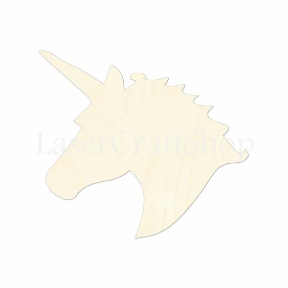 2 Quot 34 Quot Unicorn Head Wooden Cutout Shape Silhouette