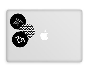 Twin Peaks Decal Set - David Lynch Decal, The Black Lodge, White Lodge, Agent Dale Cooper