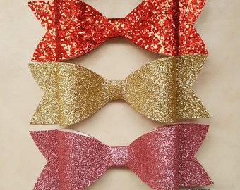 Glitter foam bows