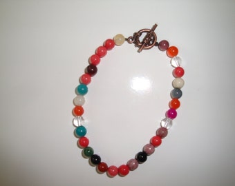 Bracelet with Round Gemstone Beads