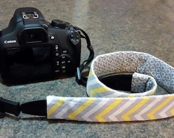 yellow chevron camera strap cover