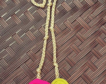 handmade necklace, fabric necklace